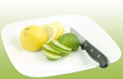 Slices of lemons and limes Royalty Free Stock Photography