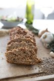 Slices of Lentil Loaf Royalty Free Stock Photos