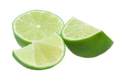 Slices of lime Stock Photography