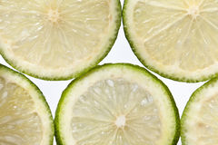 Slices of lime. Slices of slimes close up. Citrus aurantifolia Stock Image