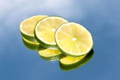 Slices of lime Stock Photo
