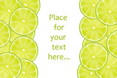 Slices of lime Stock Photos