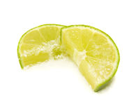 Slices of Lime Royalty Free Stock Images