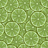 Slices of lime in a cut seamless pattern, fruit background. Drawing citrus, graphic art, cartoon. For the design  the. Slices of lime in a cut seamless pattern Royalty Free Stock Photography