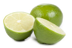 Slices of lime fruit Stock Photo