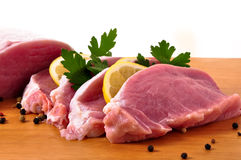 Slices of the loin Royalty Free Stock Photo