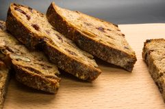 Slices of malt bread handmade Royalty Free Stock Photos