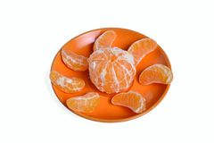 Slices of mandarin Royalty Free Stock Photos