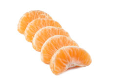 Slices of mandarin Stock Photography