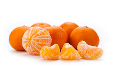 Slices of mandarin. Close-up Stock Images