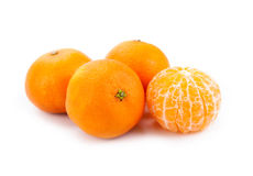 Slices of mandarin. Close-up Stock Photo