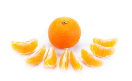 Slices of mandarin. Close-up Royalty Free Stock Photo
