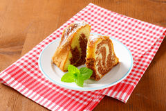 Slices of marble cake Royalty Free Stock Images
