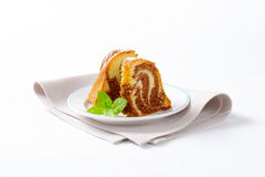 Slices of marble cake Royalty Free Stock Photos