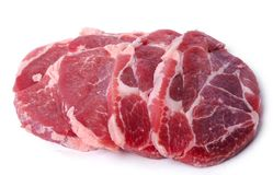 Slices of meat Stock Photo