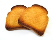 Slices of melba toast Royalty Free Stock Image