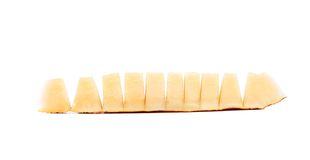 Slices of melon cut in pieces. Royalty Free Stock Image