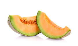 Slices Melon fruit isolated on the white background Royalty Free Stock Photo
