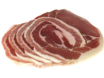 Slices of Middle Cut Back Bacon Royalty Free Stock Photos