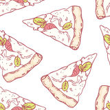 Slices of mozzarella seamless pattern Royalty Free Stock Image