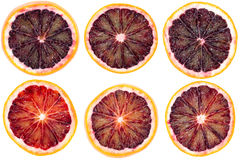 Slices od Blood Orange Stock Photography