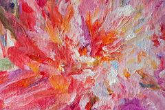 Free Slices Of Bright Oil Paint On Canvas Close-up Shot Stock Photo - 131416950