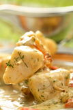 Slices Of Cod In The Cream Royalty Free Stock Photography
