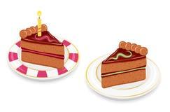 Slices Of Festive Chocolate Cake Royalty Free Stock Photo