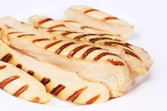 Slices Of Grilled Chicken Breast. Stock Image