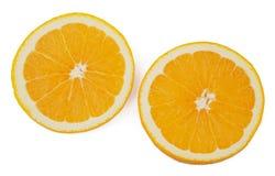 Slices Of Orange Isolated On White Stock Photography