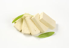 Slices Of Plain Firm Tofu Stock Images