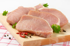 Slices Of Pork Tenderloin Royalty Free Stock Image