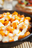 Slices Of Pumpkin And Cream Cooked In The Oven Stock Photo