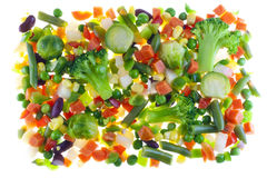 Slices Of Raw Vegetables For Cooking Stock Image