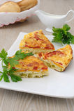 Slices of omelette with vegetables Stock Photography