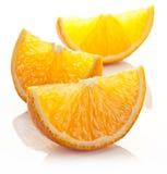 Slices of orange. Some orange slices on a white background Royalty Free Stock Photos