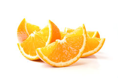 Slices of orange. On a white background Royalty Free Stock Images