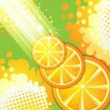 Slices orange Stock Photos