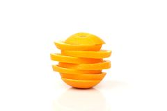Slices of orange Royalty Free Stock Image