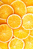 Slices of orange, close up. Royalty Free Stock Images