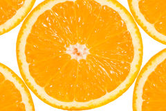 Slices of orange fruit Stock Photos