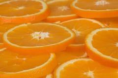 Slices of orange II. Close up of slices of orange Stock Photos