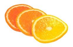 Slices of orange isolated on white Royalty Free Stock Photo