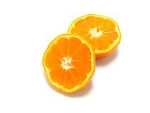 Slices of orange Stock Images