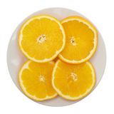 Slices of orange on a plate Stock Photo