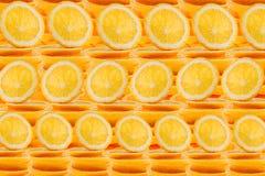 Slices of orange. Repeating orange pattern. Pattern. Macro. Stock Images