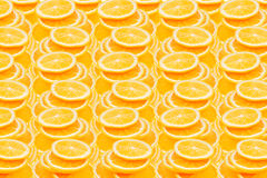 Slices of orange. Repeating orange pattern. Pattern. Royalty Free Stock Photography