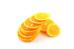 Slices of orange tangerine Royalty Free Stock Images
