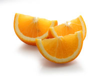 Slices of orange tangerine Stock Photo
