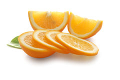 Slices of orange tangerine Stock Photography